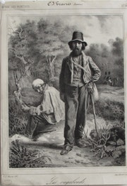 Charles Joseph Traviès (1804-1859) : Les Vagabonds..