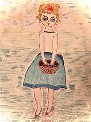 Petite rêveuse aux cerises. Eden