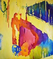 Sounds - 115*105 cm, original oil painting.