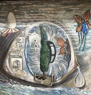 Reflex en l' Ull dins un Cargol de Mar.