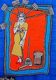 Israeli art painter artist modern paintings and drawings. Mirit Ben-Nun