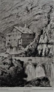 Alfred Taiée (1820-1881), 1873 : Le Doubs au Moulin de La Roche..