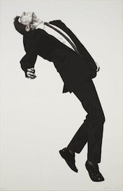 Exciting Robert Longo Jules Men in the Cities Hand Signed 2002 Lithograph. Americaartgallery