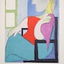 Pablo Picasso Femme Assise Pres D'une Fenetre Hand Signed with coa. Americaartgallery