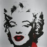 Andy Warhol Marilyn II (2) Monroe Golden Limited Edition Serigraph Silkscreen coa.