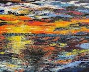«La pêche au lever du soleil».
