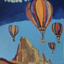 New Mexico Hot Air Balloon – 11″ X 14″ Canvas Painting. Gregory Gg Artist Bailey