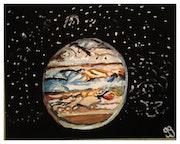 Jupiter – 16″ X 20″ Canvas. Gregory Gg Artist Bailey