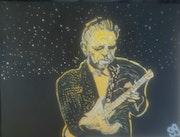Jimmie Vaughan – 18″ X 24″ Canvas. Gregory Gg Artist Bailey