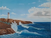 Lighthouse and Surf - After the Storm. George Stevens