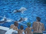 Delfine beobachten / Dolphin watching.