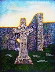 Croix celtique à Clonmacnoise.