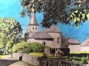 L'église Sainte-Walburge de Wéris.. Πr Dessins