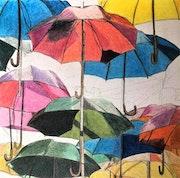 Parasols de toutes les couleurs.. Πr Dessins