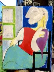 La femme assise près d'une fenêtre (Picasso). Radmila Sally Stojkovic Burton