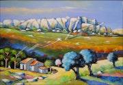 Vallée vers les Baux de Provence. Leonardo