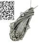 Steampunk Quartz Crystal Pendant with Herkimer Diamonds. Heather Jordan Jewelry