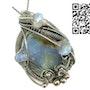 Blue Chalcedony & Rainbow Moonstone Pendant. Heather Jordan Jewelry
