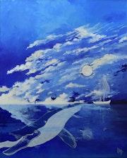 La Baleine bleue.