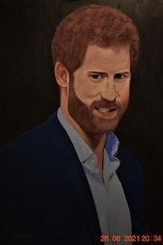 Prince Harry Painting, by joky kamo.