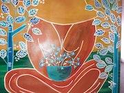 Variation sur le thème: fleur bleue.