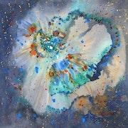 Peinture-Aquarelle-Abstrait-COSMOS. Annick Richard-Keller