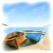 Barques sur la plage. Bruno Bianchi