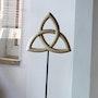 Triquetra Skulptur Holz Plastik sculptura Trinity trinitas Lindenholz. Paulus14September