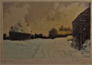 Marcel. Augis (1800-1900), «Soir de neige».. Historien d'art, Archéologue; Chercheur Free-L.