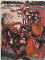 Lucien. Fontanarosa (1912-1975) : La Corrida.. Historien d'art, Archéologue; Chercheur Free-L.