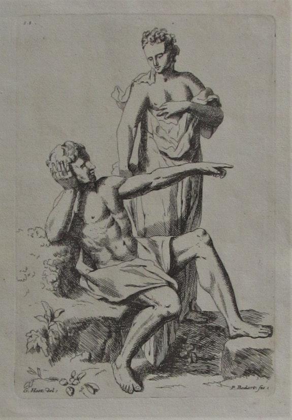 Pieter. Bodart d'après Guérard. Hoet, scène pour apprendre à dessiner.. Pieter. Bodart d'après Guérard Hoet Historien d'art, Archéologue; Chercheur Free-L.