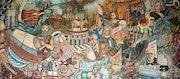 Mural de la Historia de los seguros y las fianzas. Mauricio Aburto