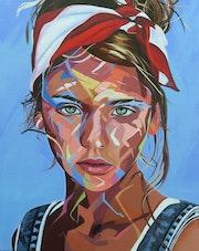 Jeune fille au foulard.