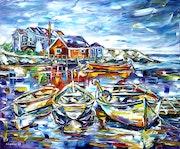 Les bateaux de pêche à Peggy's Cove.