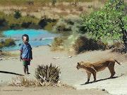 L'enfant et la lionne.