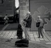 Musique de rue. Gilles Bizé