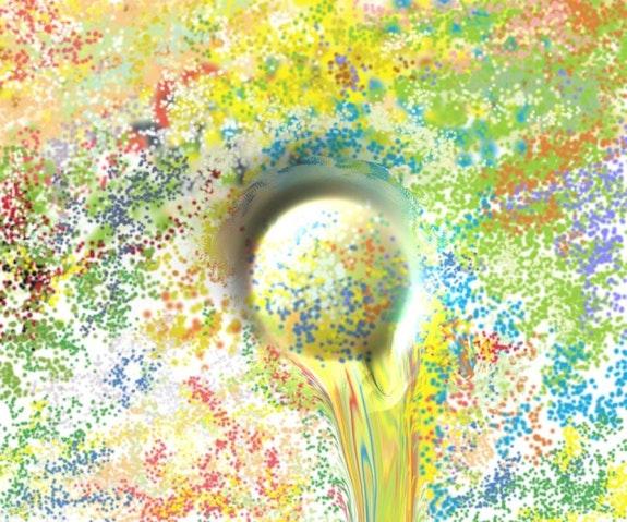 Brotando color. Juan M. Cuevas Damián Montesinos