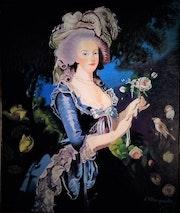Marie-Antoinette à la rose.