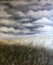 Campo dorado, óleo sobre lienzo. Demonio - Yolanda Molina Brañas