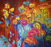 Life is life 110*120 cm, original oil painting. Marina Venediktova