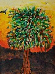 Tree at sunset.