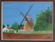 Le moulin de bBellerre au Morinand sur l'île de Ré.