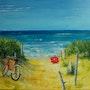 Baignade interdite:parasol rouge!. P. Ricaud