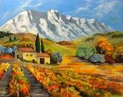 La ste victoire chère a Cézanne. Andre Blanc