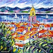 Blick auf St. Tropez.