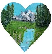Série « les Valentines » Peinture abstraite acrylique décorative Valentine 2.