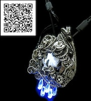 Thunderstorm Necklace with Electronic and Watch Parts Steampunk/Cyberpunk.