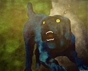 Le chien bleu. Michel Baudet