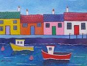 Ayrshire Harbour. Martin Whittam Artist
