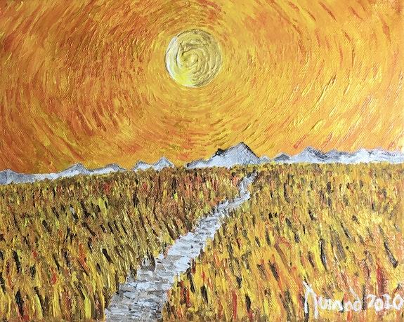 «Soleil radieux sur champ de blé», 2020. François Jornod Jornod55